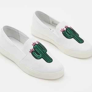 8.5 W Katy Perry Canvas Slip Ons Kerry Cactus Shoe